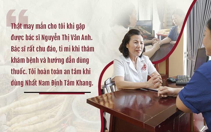 Bác sĩ Nguyễn Thị Vân Anh thăm khám và điều trị mất ngủ