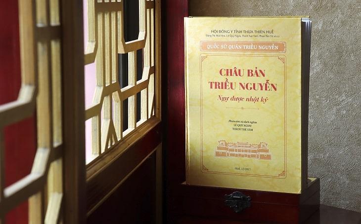 Châu Bản triều Nguyễn - cuốn sách quý ghi chép những tư liệu quý giá về đời sống xã hội triều Nguyễn và đặc biệt là những tư liệu y học của Thái Y Viện
