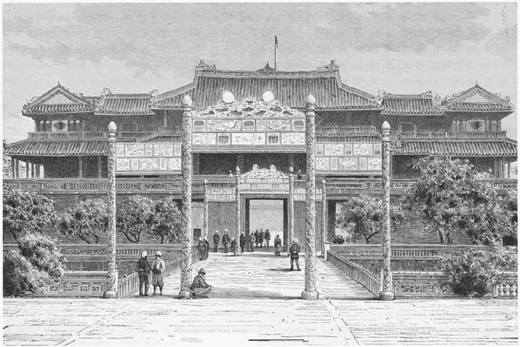 Cổng Ngọ Môn thuộc kinh thành Huế xưa