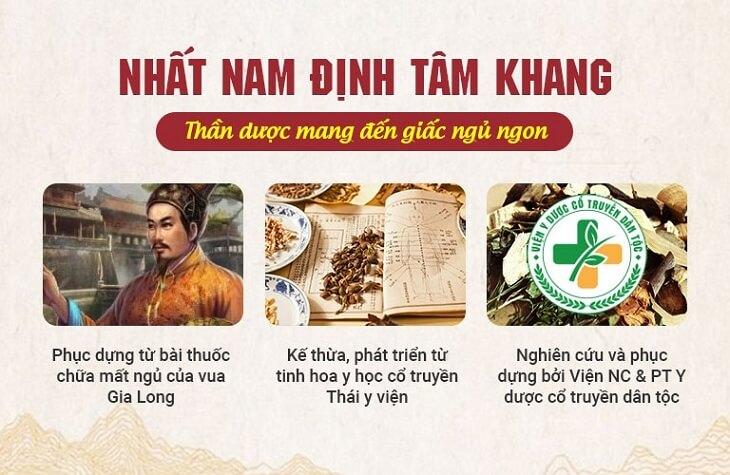 Nhất Nam Định Tâm Khang được nghiên cứu bài bản bởi đội ngũ chuyên gia
